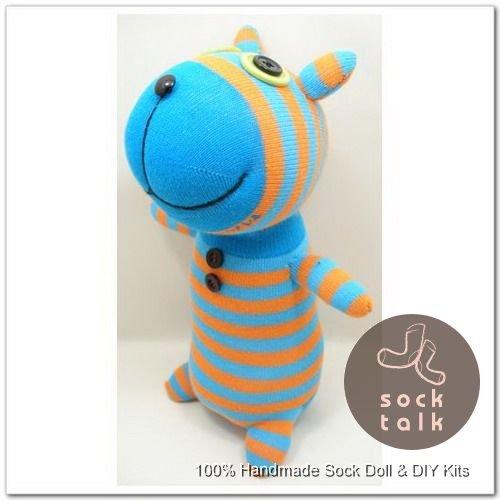 Handmade Sock Monkey Dog Stuffed Animals Doll
