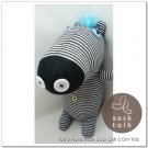 Handmade Sock Monkey Zebra Stuffed Animals Doll