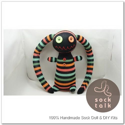 Handmade Sock Monkey Pirate Stuffed Animals Doll