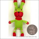 Handmade Sock Monkey Rabbit Bunny Stuffed Animals Doll
