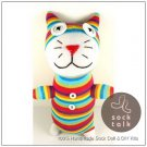 Handmade Sock Monkey Cat Kitty Stuffed Animals Doll