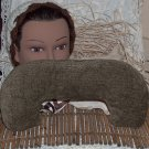 Mottled Moss Green Neck Pillow with real lavender