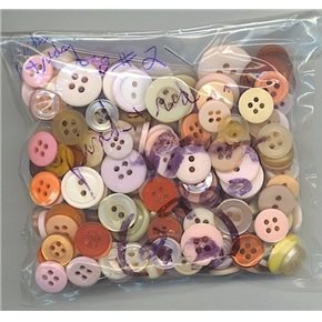2 oz mostly pinks reds vintage buttons for crafts or sewing