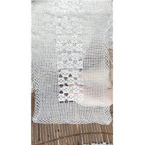 35 inch table runner doily -hand crocheted vintage