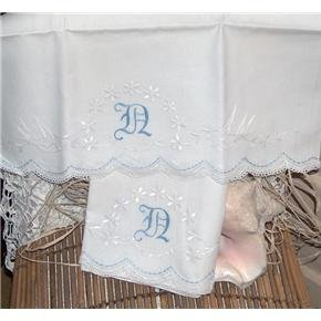Hand Embroidered pillowcases Birds, Daisies, monogram...
