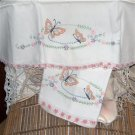 Hand Embroidered pillowcases Butterflies and Daisies...