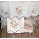 Hand Embroidered pillowcases orange and yellow Daisies...