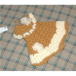 crocheted decorative ochre hot pad or DRESS up your dish soap