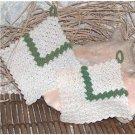 Crocheted green-white Wall Decoration Potholder Handmade