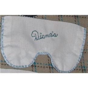 Hand-Sewn washable cotton eye mask liner - cotton with blue satin