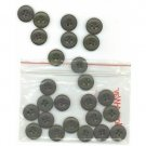 25 matching olive drab - military green vintage buttons