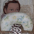 Neck pillow - travel pillow in Blue Roses... design