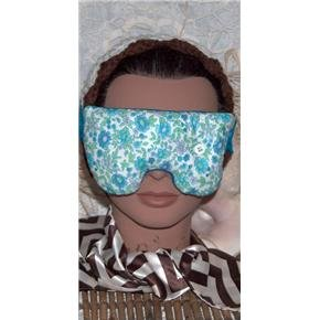 Peacock blue... eye mask with button - stretch lace strap