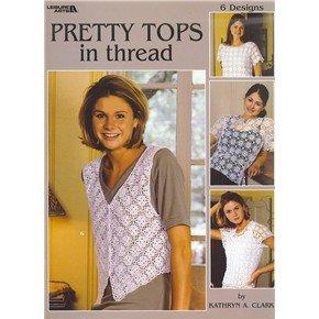 Leisure Arts leaflets ladies fashion designs crochet pretty lace tops