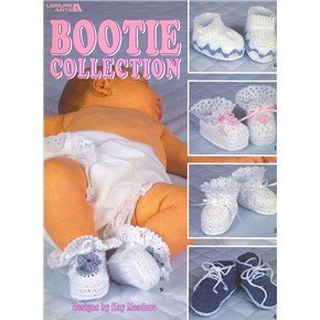 Bootie Collection by Leisure Arts 1998 booklet 10 baby bootie designs