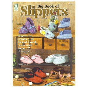Big Book of Slippers 27 crochet patterns for Men Women Childen Bride