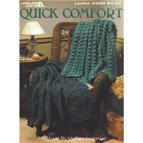 2 booklets with 13 different afghan designs from Leisure Arts