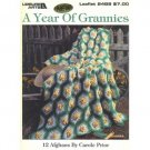 A Year of Grannies 12 granny square afghan designs leaflet #2489