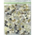4 oz mostly whites and tans vintage buttons -sewing crafts