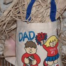 8x8 canvas Tote bag as a gift bag or for everyday - Dad