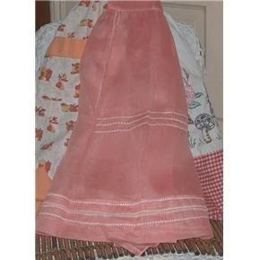 Vintage Apron - melon color sheer hostess apron