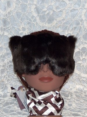 dark brown faux fur eye mask-pillow with dream herbs inside