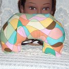 multi color Neck pillow -travel pillow vintage cotton fabric