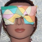 multi colored eye mask-pillow with pale pink strap small size