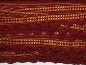 wine and gold 1 1/2 vintage drapery trim by the yard