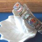 1920s Italian glass mosaic bracelet
