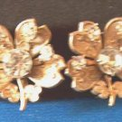 Coro Rhinestone vintage screwback earrings - goldtone