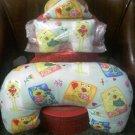 Froggie loves you ! - eye mask pillow, neck pillow and sachet