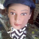 Navy blue vintage hat - topper type of the 1950&#39;s