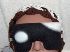 Lavender scented black and white eye pillow mask - small size