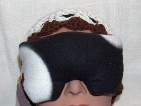 Real Lavender scented black and white eye pillow mask