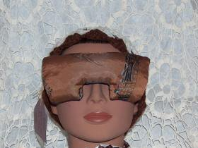 golf print and navy blue eye mask pillow with lavender inside