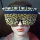 Leopard print and navy blue eye mask pillow with real lavender inside #2