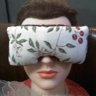 Cherries and chocolate crushed velvet eye mask eye pillow