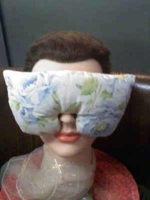 Blue roses eye mask pillow with real lavender inside