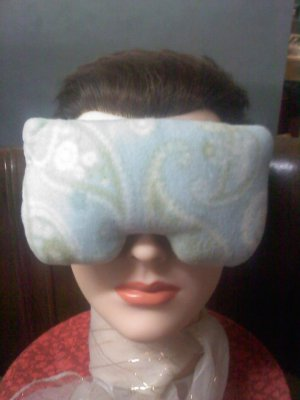 Aqua paisley print eye mask pillow - real lavender