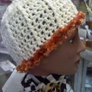 Cream and Copper Hand Crocheted designer hat