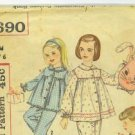 vintage 1950&#39;s sewing patterns 2 McCall&#39;s pencil skirt, jacket  and 2 Simplicity kids