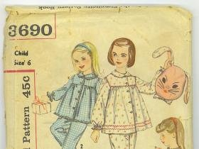 vintage 1950's sewing patterns 2 McCall's pencil skirt, jacket  and 2 Simplicity kids