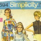 Vintage 1970 sewing patterns Simplicity misses' blouse size 14 and a Jiffy dress