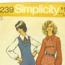 Vintage 1972 sewing patterns Simplicity misses&#39; size 14 uniform and a Jiffy dress