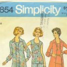 Vintage 1974 and '75 sewing patterns Simplicity misses' size 14 blouse, pants... and dress