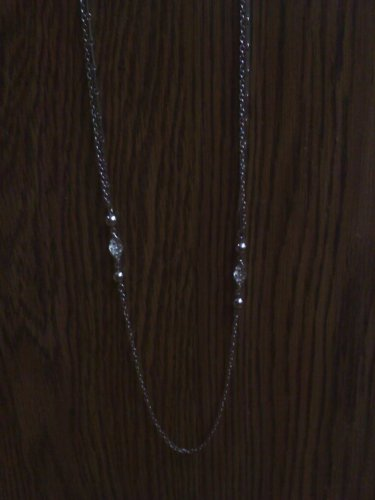 Park Lane silvertone vintage Necklace - extra long