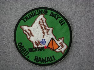 Girl Scout Patch - Oahu, Hawaii - Thinking Day 1981
