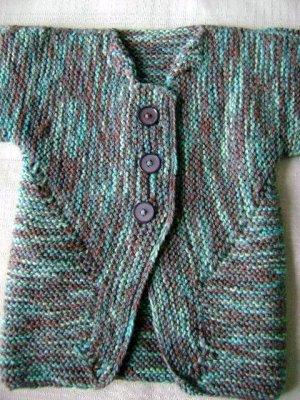 BSJ - Blue Green Cardigan Sweater