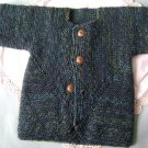 Baby Cardigan Sweater - Blue Green Tweed